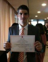 Manuel García Luque obtiene un premio nacional al rendimiento académico universitario