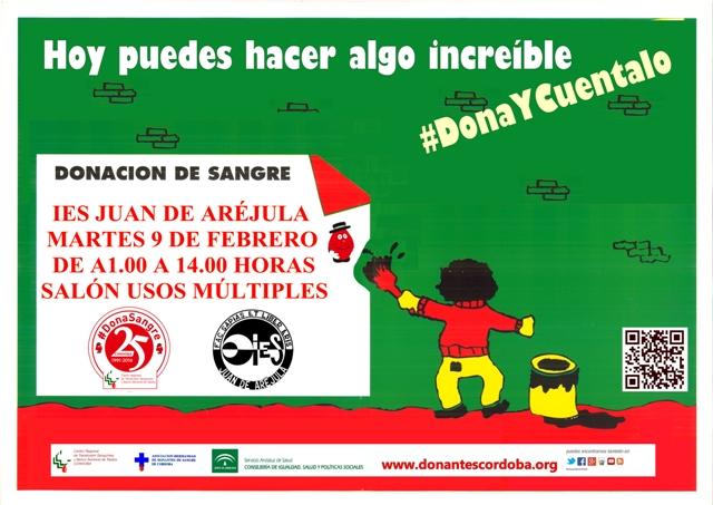 Donación de Sangre el 9 de febrero en el IES Juan de Aréjula