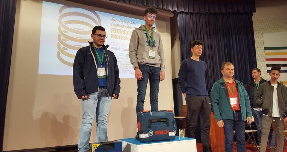 José Laura Postigo, alumno del IES Juan de Aréjula, obtiene medalla de oro en AndalucíaSkills 2018