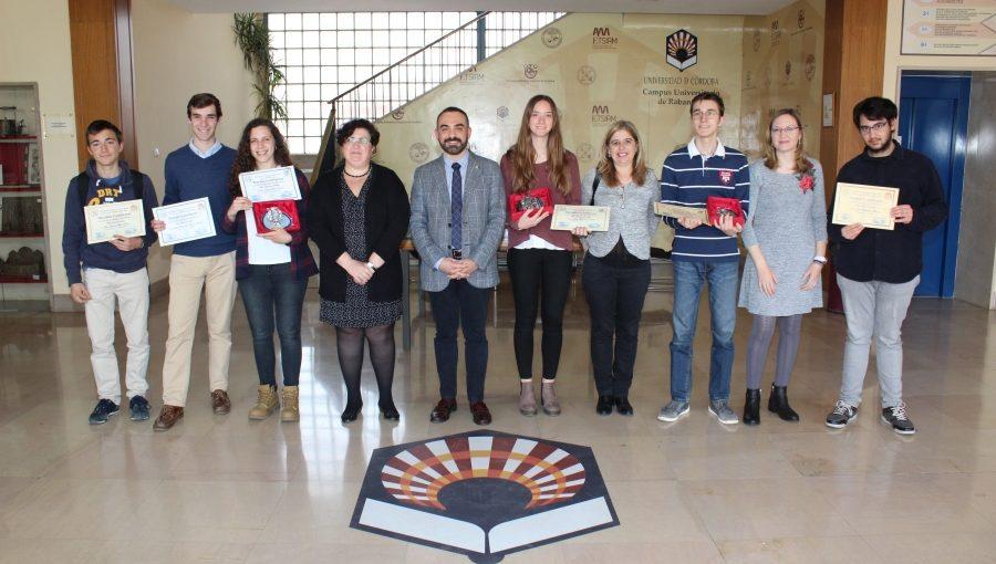 Entrega de premios de la fase autonómica andaluza de la XIII Olimpiada de Biología