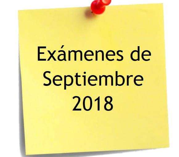 EVALUACIÓN EXTRAORDINARIA DE SEPTIEMBRE DE 2018