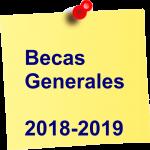 Becas Generales 2018-2019
