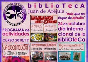 Presentación del programa de actividades de la Biblioteca. Curso 2018/2019
