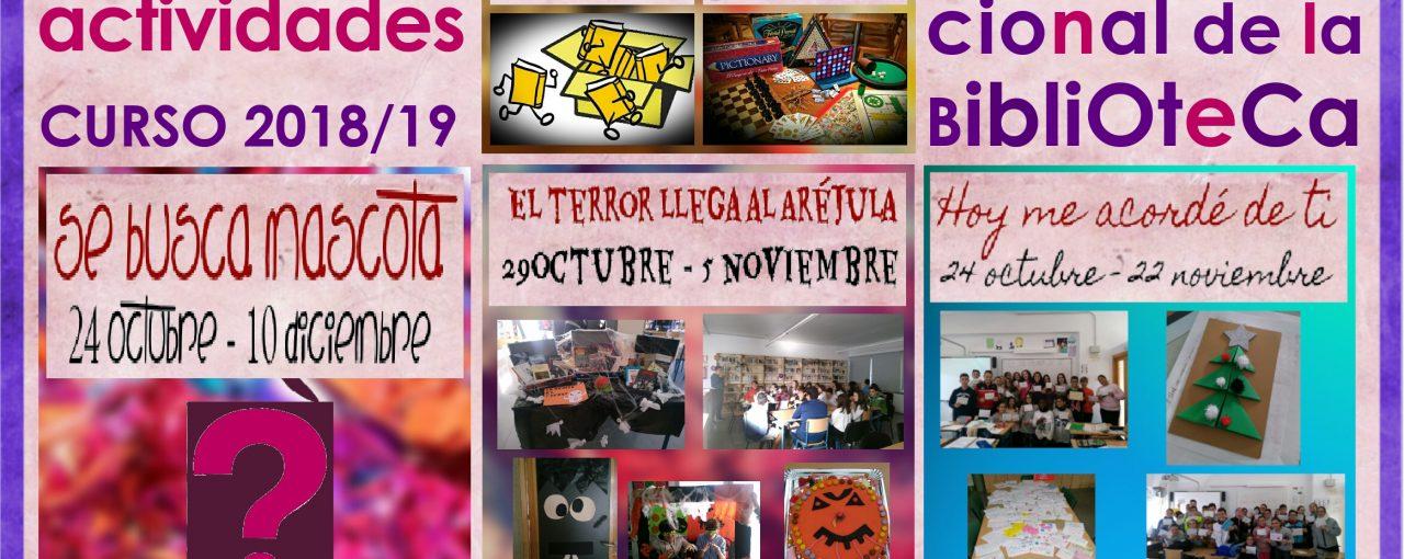 Día Internacional de la Biblioteca. Cartel con actividades programadas