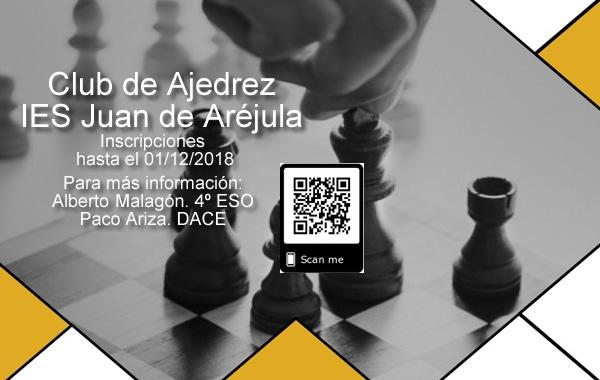 Abierto el plazo para inscribirse en el Club de Ajedrez