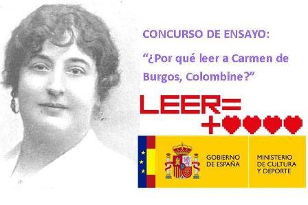 """PREMIOS DEL CONCURSO DE ENSAYO SOBRE CARMEN DE BURGOS """"COLOMBINE"""""""