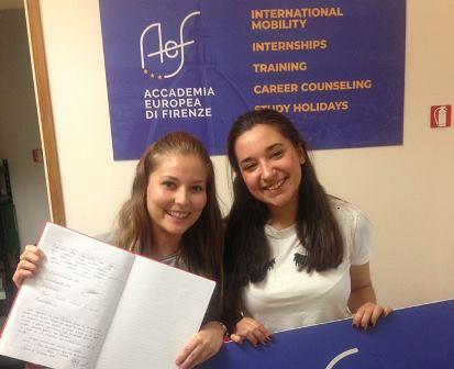FCT de alumnas de 2º de Laboratorio en Florencia