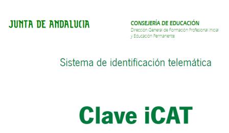 Solicitud de la clave iCAT