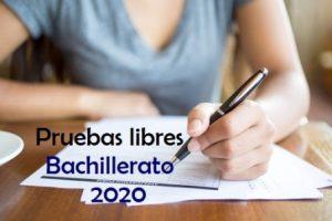 Convocatoria de Pruebas libres para la obtención del título de Bachillerato para mayores de 20 años.