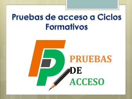 Convocadas las pruebas de acceso a los ciclos formativos de grado medio y grado superior