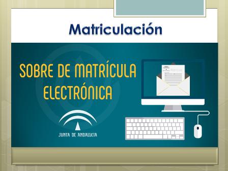 Sobre de matrícula electrónica