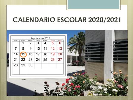 Calendario escolar del curso 2020/2021