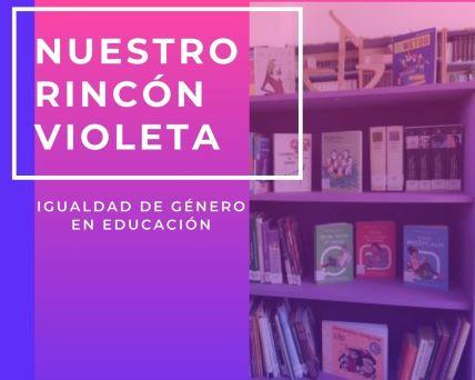 Rincón violeta en la biblioteca María Moliner