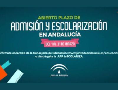 Presentación de solicitudes de admisión en ESO Y BACHILLERATO. Del 1 al 31 de marzo.
